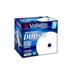 Verbatim DVD+R Printable 16x 4.7 GB Caja 10 Unds