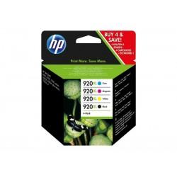 Pack Ahorro HP Nº920 XL Negro/Cian/Magenta/Amarillo