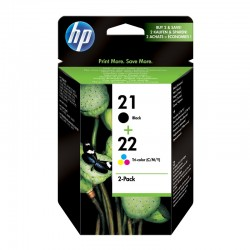 Pack Ahorro HP Nº21/22 Negro/Tricolor