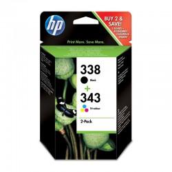 Pack Ahorro HP Nº338/343 Negro/Tricolor
