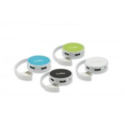 Coolbox Round Hub 4 Puertos USB Verde