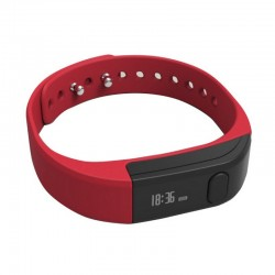 Leotec Pulsera Fitness Smart Rojo