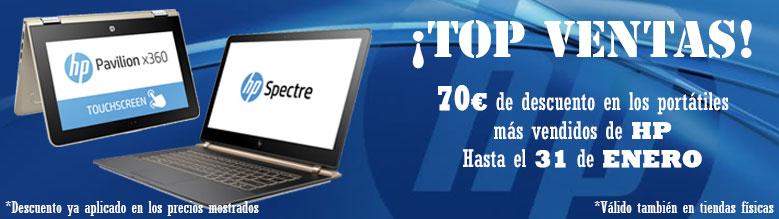 70€ de descuento en portátiles HP
